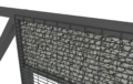 brama przesuwna z wypełnieniem kamieniem gabion nowoczesny