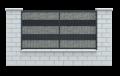 Ogrodzenie gabionowe LUCCA i słupy betonowe. - nowoczesne rozwiązanie naturalnie wkomponowujące się w otoczenie.