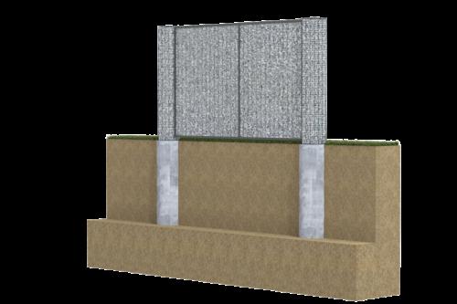 pelne ogrodzenie gabionowe na fundamencie