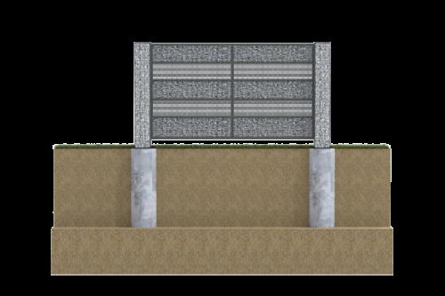 fundament pod ogrodzenie panelowe gabion śląsk