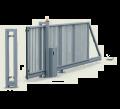 brama PI 130 z napędem w niskiej szafie
