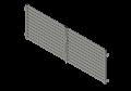 aksonometria bramy podwójnej z elementami montażowymi do murów