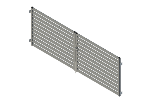 żaluzjowa brama wjazdowa