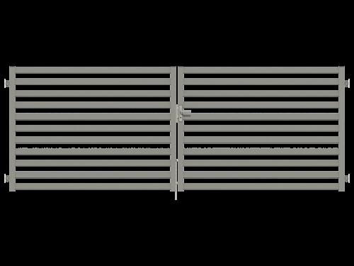 wersja como bramy dwuramiennej mocowanej do muru