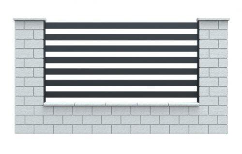 ogrodzenie palisadowe COMO + słupy betonowe