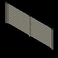 brama nowoczesna palisada minimalistyczna prosta