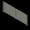 aksonometria bramy wjazdowej z żaluzją