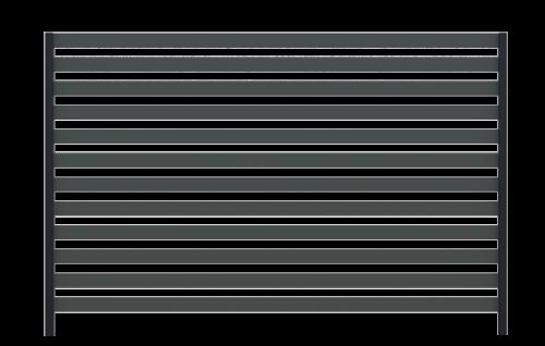 Ogrodzenie palisadowe COMO + słupy BASE - spójna i nowoczesna kompozycja