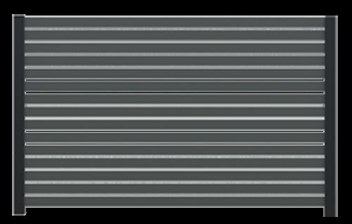 Ogrodzenie palisadowe COMO + słupy SOLID H - minimalistyczne i nowoczesne rozwiązanie