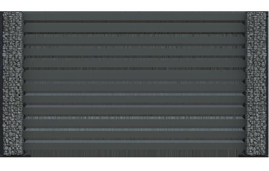 Ogrodzenie palisadowe COMO + słupy LUCCA AIR - nowoczesny zestaw ogrodzeniowy, który świetnie wpasuje się w każde otoczenie.
