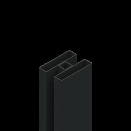 słup H z profili 80x20mm z dystansem 20mm