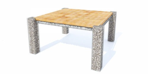 stół ogrodowy drewno kamień